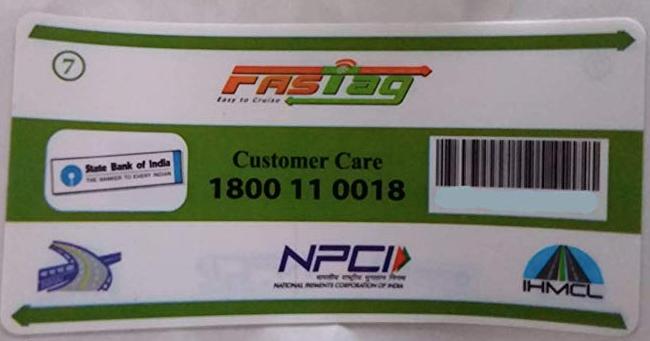 SBI FASTag customer care